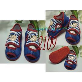 ^~^~阿布 ^~^~~2109~藍紅色海盜軟膠底學步鞋 寶寶涼鞋11.5cm