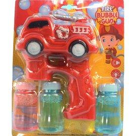 消防車泡泡槍 NO.160 自動泡泡槍 泡泡水 附電池  一支入{促180}聲光電動吹泡泡
