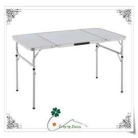 大林小草~【73160157 】日本 LOGOS 半分厚12070三折合桌(二段可調)鋁合金 野餐桌 休閒桌