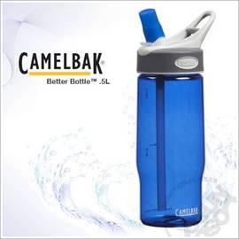 【CAMELBAK】500ml吸管運動水瓶.0.5L水壺.吸管咬嘴.耐0-70℃.耐撞擊.附提把/藍 53016