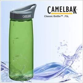 【CAMELBAK】750ml經典運動水瓶.0.75L水壺.旋轉式瓶蓋.建議使用溫度0-70℃.耐撞擊.附提把/草綠 53233(缺貨中)