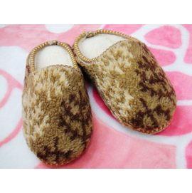 嘉芸的店 保暖室內包鞋 包後跟拖鞋 家居鞋 室內保暖鞋 精緻毛線編織 保暖腳ㄚㄚ