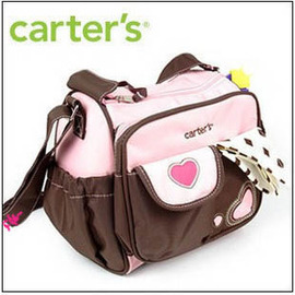 Carter's 防水媽咪包~大包+ 尿墊+防水收納袋~時尚愛心~*◇/母子包/旅行包/媽媽包