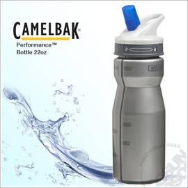 【CAMELBAK】650ml軟殼吸管水瓶.噴射水瓶.運動水壺.0.65L水壺.保冷.耐撞擊.抗菌.附提把/銀 52088