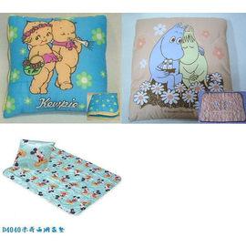 棉被抱枕^(打開是棉被喔^)^~丘比^(Q比^).迪士尼.米奇.嚕嚕米^~100^%純綿.