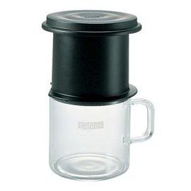 【HARIO】日本 CFO-1B(黑) 1人份(200ml) 免濾紙不銹鋼濾網(圓錐濾杯/濾器) - 獨享杯/咖啡壺