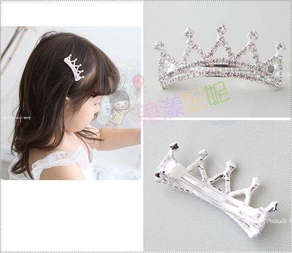 果漾妮妮 气质闪亮皇冠发夹 公主夹 表演 毕业 婚礼 花童