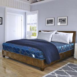 ~ 屋~緹花蓆面5尺雙人硬式彈簧床墊Q1~005色 製 免組裝 免