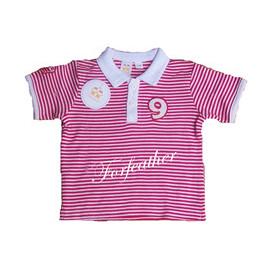 純棉9號條紋休閒衫^(12^~48M^)  128元