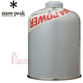 GP-500S日本Snow Peak標準型高山瓦斯罐(淨容量420克) (異丁烷70% + 丁烷30%)