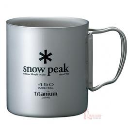探險家露營帳篷㊣MG-053日本Snow Peak鈦金屬雙層杯450ml折疊把手/鈦杯/斷熱杯/登山杯/日本製
