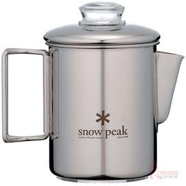 PR-006日本Snow Peak不鏽鋼露營咖啡壺(六杯量)美式咖啡壺(日本製)