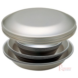 TW-021F日本Snow Peak不鏽鋼餐盤組4人四件組 餐碗/碗盤/露營/野炊/日本製造