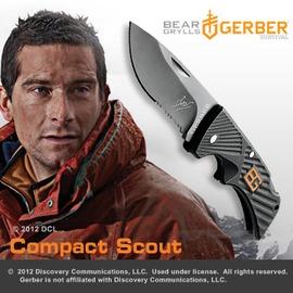 美國GERBER Bear Grylls  貝爾求生系列-童軍小型折刀(半齒半刃)#31-000760