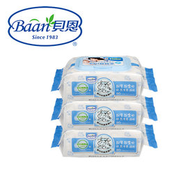 Baan貝恩 EDI嬰兒保養柔濕巾-無香料80抽(3包入)