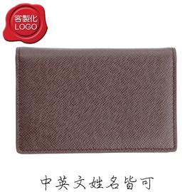 NC~032~12 風卡夾^(深咖啡色細十字紋^)