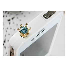 閃耀皇冠水鑽手機防塵塞iphone4 蘋果4s ipad 2  ◇/保護塞/耳機孔塞/耳機防塵塞/耳機塞/