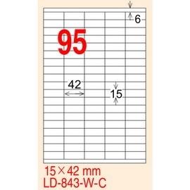 龍德 A4 電腦標籤紙 LD~843~R~C 210~297mm 粉紅色20張入  95格