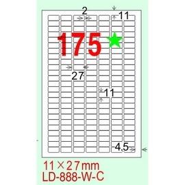 龍德 A4 電腦標籤紙 LD~888~G~C 210^~297mm 淺綠色20張入 ^(1