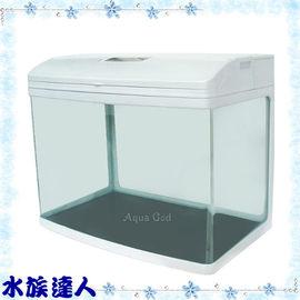 【水族達人】【魚缸】JAD《小彎角ㄇ型套缸˙HX-600(白色) 》含上部過濾+LED燈具