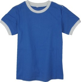 ^~99102c^~ ◆ 男 ^~棉質 圓領 袖口 配色 T恤 ^(素色 肩出牙^) ^~