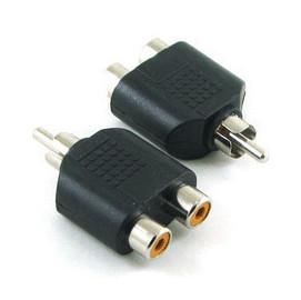 一分二/1公轉2母 RCA AV端子轉接頭