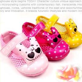 ~買窩^~給寶寶人生第一步的小鞋子~春夏亮眼嬰兒軟底透氣網涼鞋 女童鞋 學步鞋 寶寶鞋 嬰