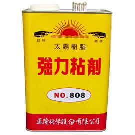 太陽808 強力黏劑/強力膠 3kg(加侖裝)★操作簡易 接著力強★耐水、耐候、耐彎曲性佳