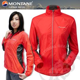【英國 Montane】Featherlite Marathon Jacket 女款 羽量馬拉松風衣外套.附收納袋.排汗.透氣.吸濕.輕量/紅