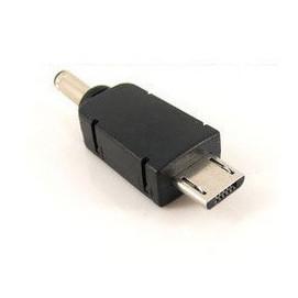 micro usb(公) / DC3.5mm(公) 轉接頭/充電頭 [JUS-00006]