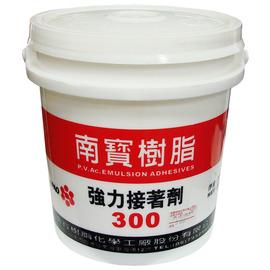 南寶樹脂300 強力接著劑/白膠 3kg(加侖裝)★用於接著、貼合★接著力佳 不易脫膠