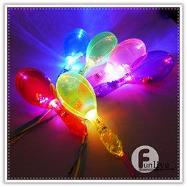 【Q禮品】A1220 LED閃亮發光沙鈴/閃光沙鈴/閃光鈴鼓/閃光搖鈴/婚禮小物/螢光棒
