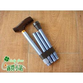 大林小草~【FM-41】木柄可調式鋁合金摺疊拐杖折、4節折疊5段可調式拐杖、T型伸縮杖-台灣製