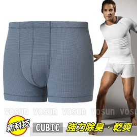 【瑞士 ODLO】CUBIC 男款 頂級機能型銀離子排汗內褲.平口褲.衛生褲.輕量.抗菌.快乾.吸濕.排汗/灰藍 140272