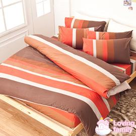 ~戀家小舖~純棉雙人四件式床包被套組~咖啡紅 ^( NO6^) C01~AAC212