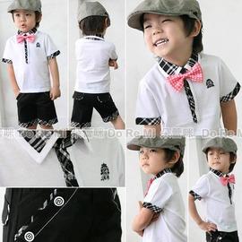 B285C13白色格紋款學院風兩件式套裝 ~朵蕾咪Do Re Mi~ ~