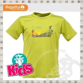【英國 REGATTA 】Kids Luxo Graphic T-Shirt 兒童短袖排汗T恤.吸濕.快乾..抗污.戶外.休閒/綠 RKT032 B