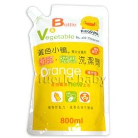 黃色小鴨奶瓶蔬果洗潔精補充包800ml