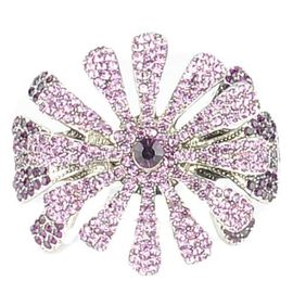 ~QUEENWOODS~^~手環^~派對系列:優雅大雛菊 紫晶古銀~夾式手鐲 首飾 手飾^