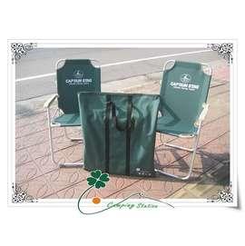 大林小草~缺貨【M-3872  】日本 鹿牌 CAPTAIN STAG 鋁合金休閒椅、明星椅,兩張椅子+收納袋1只特價:$1800