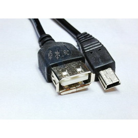 [OTG]mini usb(公)轉usb 2.0(母) 手機轉平板/電腦/MP3/讀卡機 OTG線/傳輸線/轉換線(外開型) [DMU-00003]