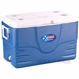 6050A748美國COLEMAN五日鮮52QT行動冰桶(藍)冰箱5日鮮49公升(美國製)
