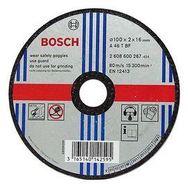 BOSCH 4英吋砂輪片100X2.0X16mm(1入)★經濟實用★耐磨耗、高效率