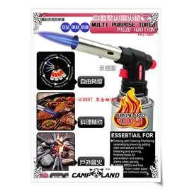 大林小草~【RV-AC8807】CampLand 黑金鋼 電子點火 卡式瓦斯噴火槍 噴火槍 噴火器 點火槍