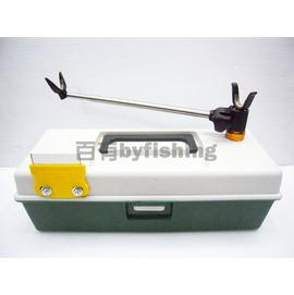 ◎百有釣具◎台灣製造 蝦釣專用工具組三合一 (工具盒+釣蝦掛桿組+快別用鐵梳)