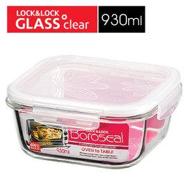 Lock   Lock 樂扣樂扣 正方型耐熱玻璃保鮮盒 白色蓋 ^(930ml 930cc