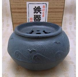^~福介 館^~ 南部鐵器^~文秀堂 海鷗 建水^~ 製 茶道裝水器具~ 鑄鐵藝品^~茶道