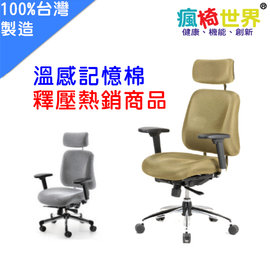 ~瘋椅世界~CI~5F 溫感記憶工學椅 符合經濟部商檢局CNS 正字標記 健康釋壓舒適 加