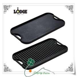 大林小草~美國Lodge Logic Pro Grid,Iron Griddle 雙面長型深型平底煎盤、牛排盤、烤盤 【LPGI3】
