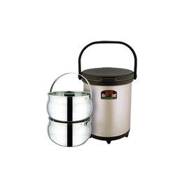 THERMOS膳魔師 6L外出型(3.0*2)真空保溫燜燒鍋 RPC-6000W =內附2個內鍋,可同時烹煮兩道菜=